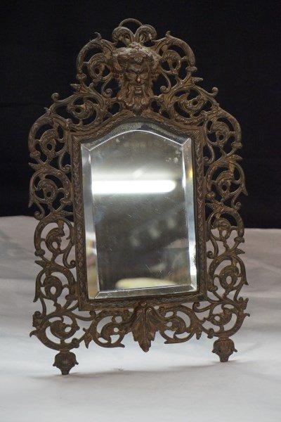 Victorian Bronze Mirror