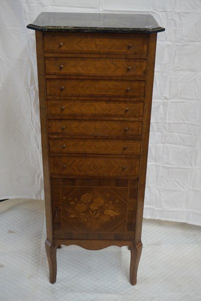 French Marble Top Jewelry Chest