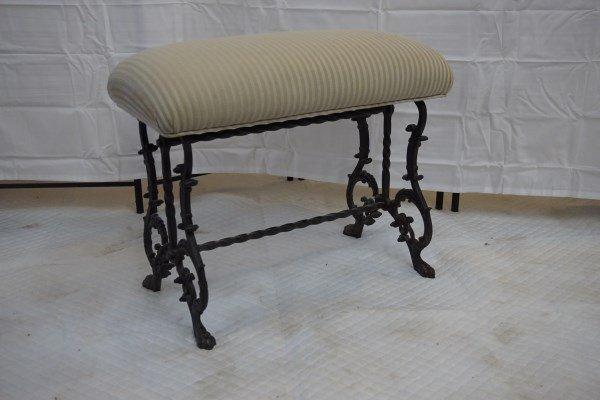 Cast Iron Victorian Piano Bench