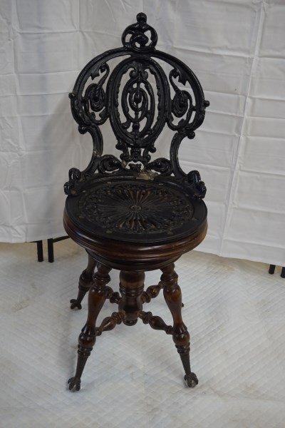 Cast Iron Victorian Piano Stool