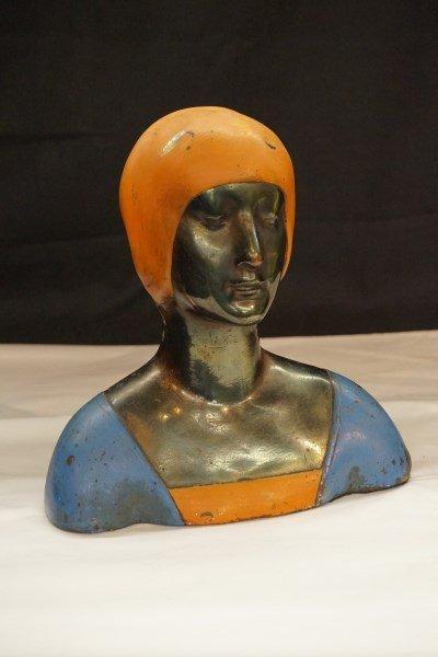Pompeian Bronze Art Deco Female Bust