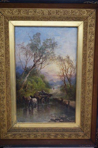 Wilhelm Amberg (1822-1899) Oil Canvas Landscape