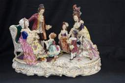 Exquisite 19th Century  Dresden French Porcelain Group