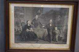 The Abraham Lincoln Family Engraving