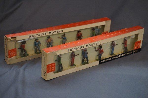 Britains Cowboy and Indians Figure Sets 9188,9189