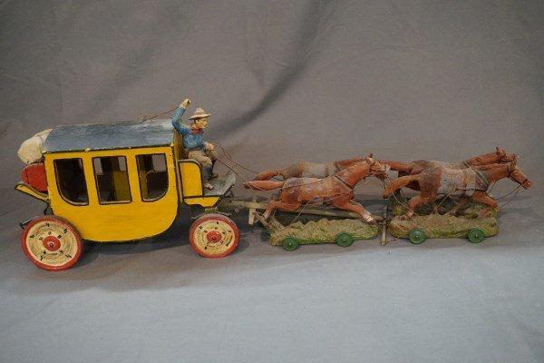 Elastolin Stagecoach Toy Set