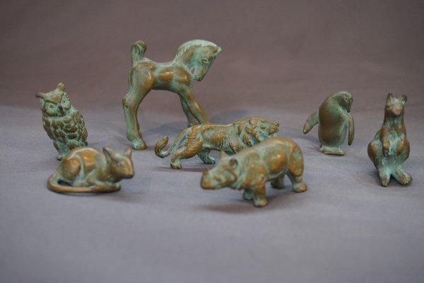 Seven (7) Bronze/Brass Art Deco Animals