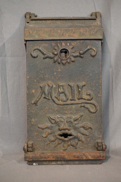 American Iron Mailbox Receptacle c.1891