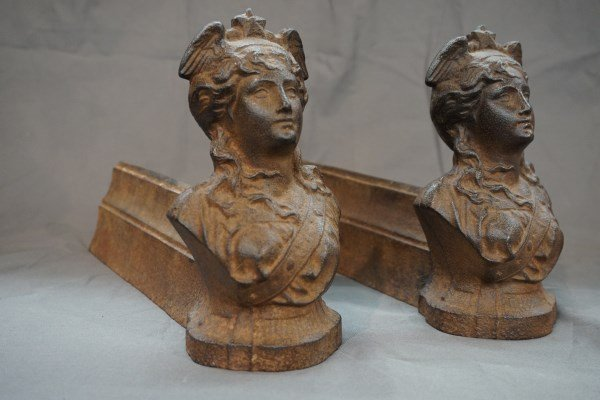 Winged Liberty Head Fireplace Fenders