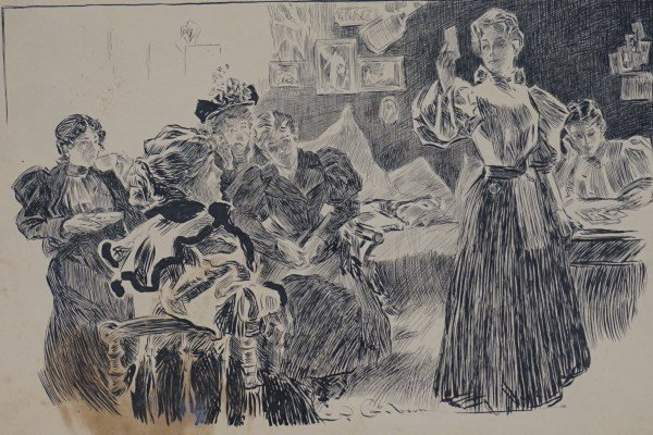 Charles Dana Gibson (American 1877-1944) Pen and Ink