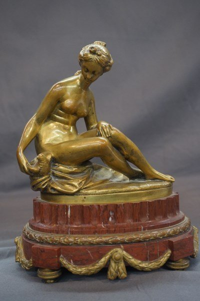 After Etienne Maurice Falconet Bronze Nymph and Bird