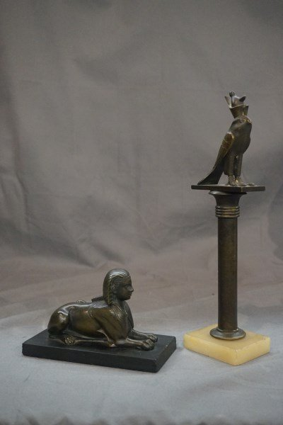Two (2) Egyptian Revival Bronze Ornamentals