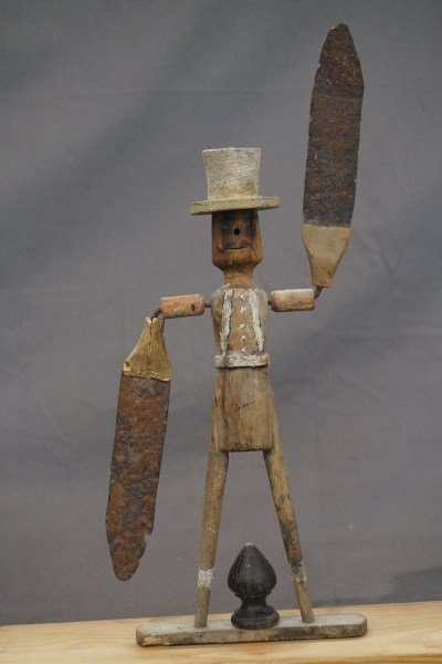 19th Century Wood and Tin Whirligig