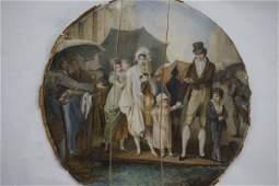 19th Century French School Miniature Oil