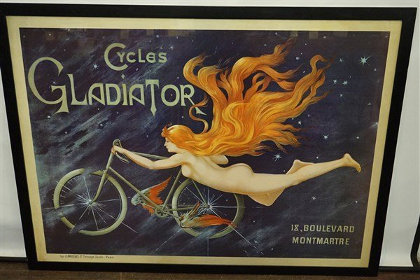 Georges Massias Cycles Gladiator Bicycle Nude Poster