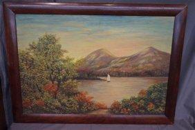 Oil On Canvas Hudson River School