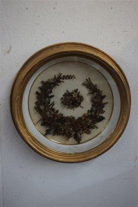 Large Victorian Human Hair Wreath
