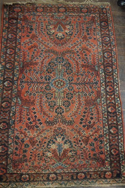 An Antique Sarouk Carpet
