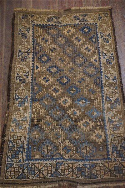 Antique Persian Geometric Carpet