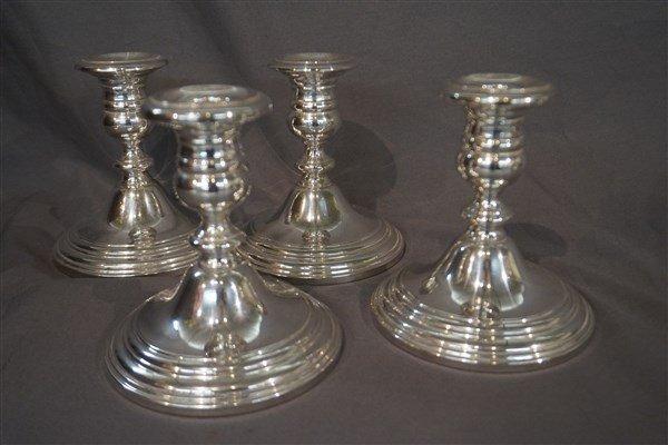 Four (4) Gorham Sterling Silver Candlesticks