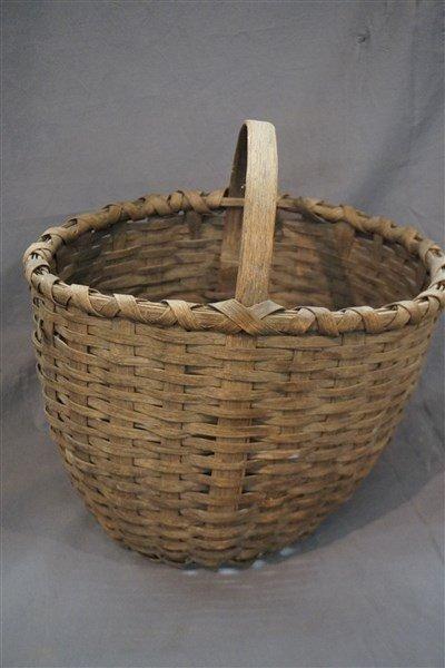 Lg. 19th C American Splint Basket