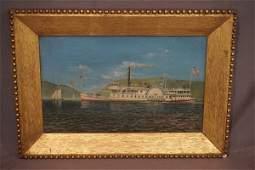 Albert Nemethy (American 1920-1998) Hudson River O/C