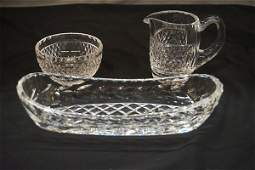 Three 3 Piece Waterford Crystal