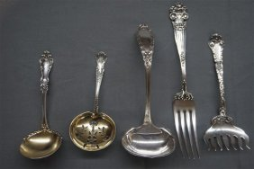 Victorian Sterling Silver Flatware Grouping