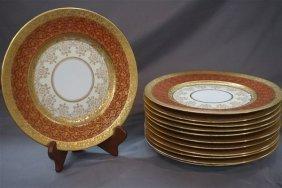 12 Hutschenreuther Royal Bavarian Gold Dinner Plates