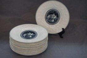 Twelve (12) Wedgwood Etruria Porcelain Plates
