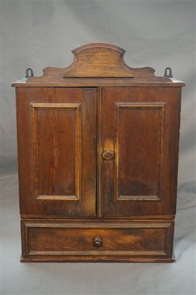 19th Century Hanging Pine Spice Box
