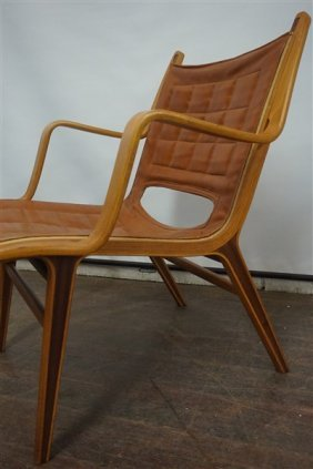 Mid Century Bentwood Chair With Inlay