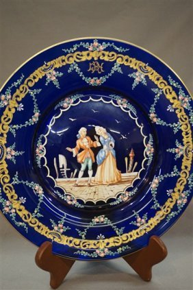 Bohemian Cobalt Blue Glass Plate