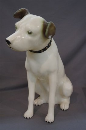 Rca Advertising Nipper Dog, Large Molded Plastic