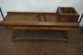 Primitive Wooden Cabbage Slicer Table