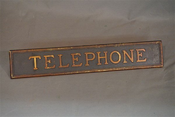 Vintage Telephone Booth Sign