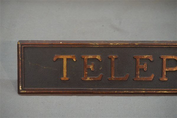 Vintage Telephone Booth Sign - 3