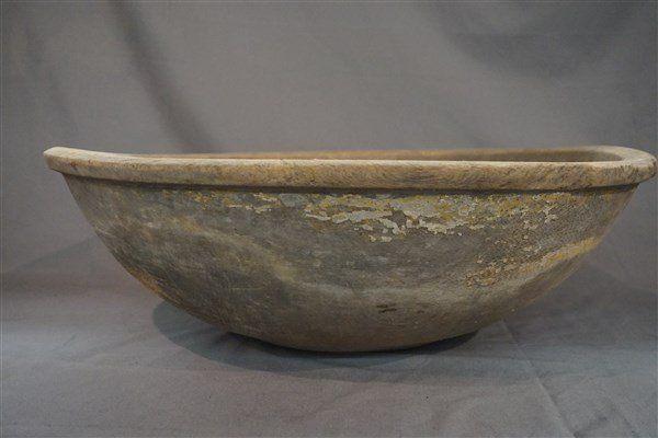 19th c. Americana Large Wooden Dough Mixing  Bowl