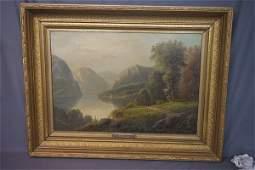 Herman Geyer (New York, 19th c.) Hudson Valley Oil
