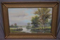 Hudson River Valley 19th c Watercolor