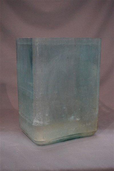 Aqua Blue Glass Battery Jar RSA-120 Willard