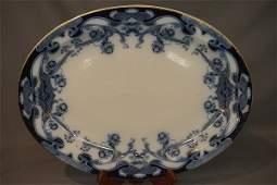 "Flow Blue ""Iris"" Platter English 19th C."