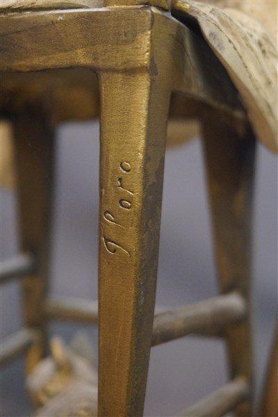 Juan Clara (1875-1958) Girl Chair with Cats - 5