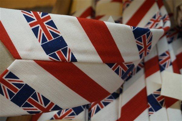 New Old Stock Vintage 70's British Flag Ties - 3