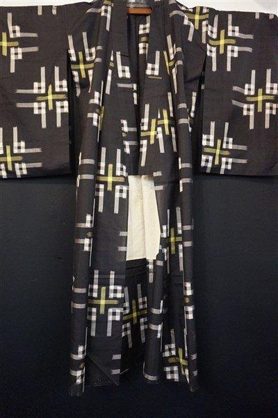 Three (3) Vintage Japanese Kaguri Kimonos - 6