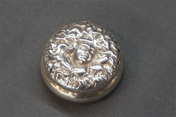 Art Nouveau Sterling Silver Pill Box