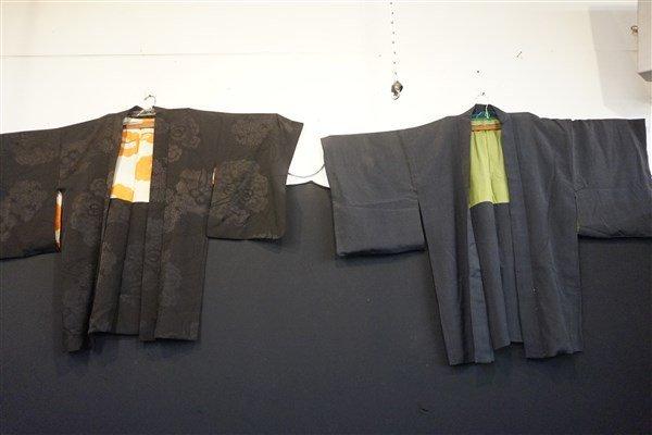 Two (2) Black Japanese Kimono Jackets