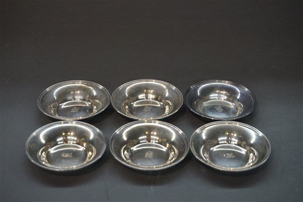 Six (6) Sterling Silver Butter Pats William Nost & Co.