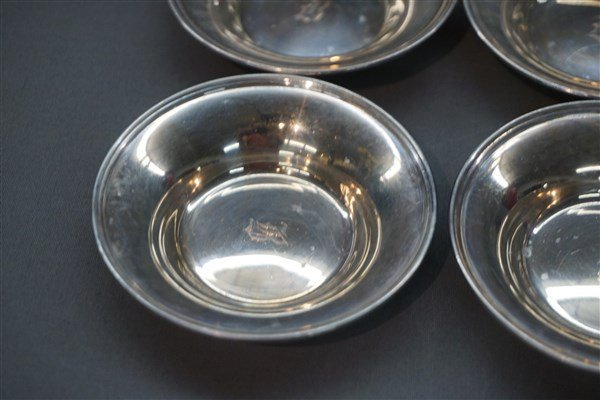 Six (6) Sterling Silver Butter Pats William Nost & Co. - 2