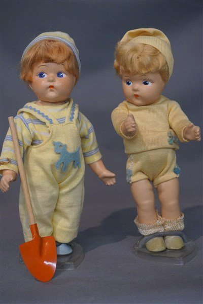 Early Vogue Ginny Toddles Dolls c. 1940's